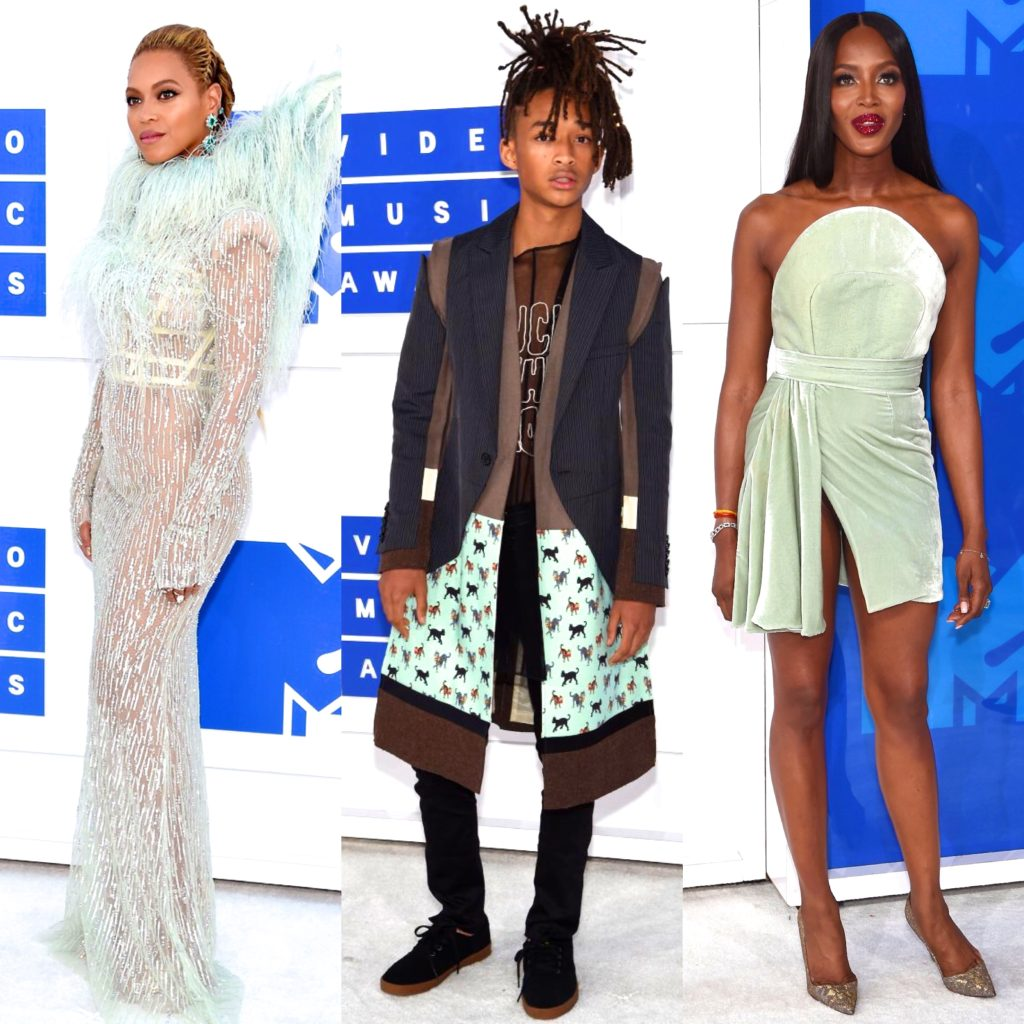 Beyoncé, Jaden Smith, Naomi Campbell