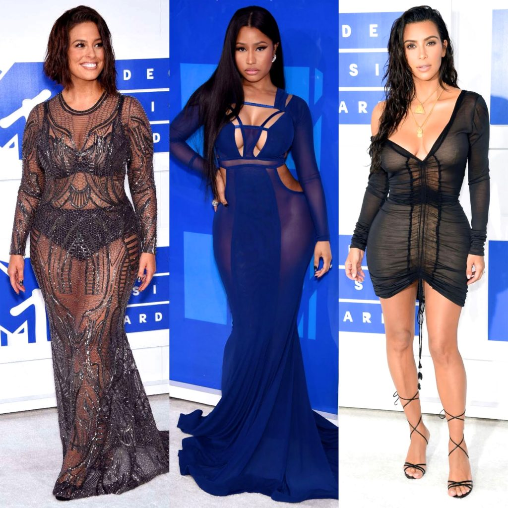 Ashley Graham, Nicki Minaj, Kim Kardashian West